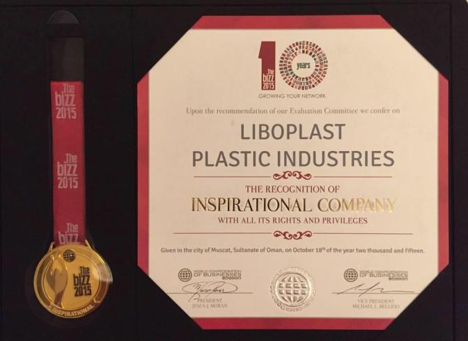 LIBOPLAST received THE BIZZ Award 2015